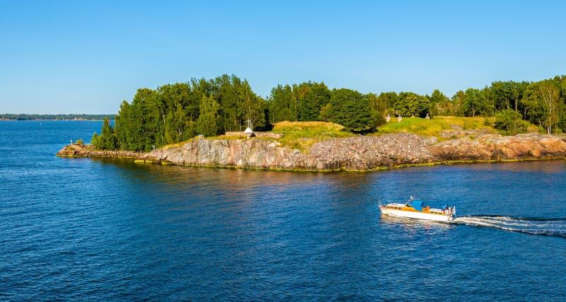 Ansicht von Vallisaari-Insel lizenzfreie stockfotos