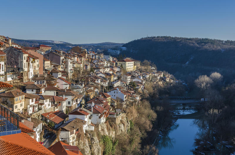 Ansicht von Veliko Tarnovo in Bulgarien lizenzfreies stockbild