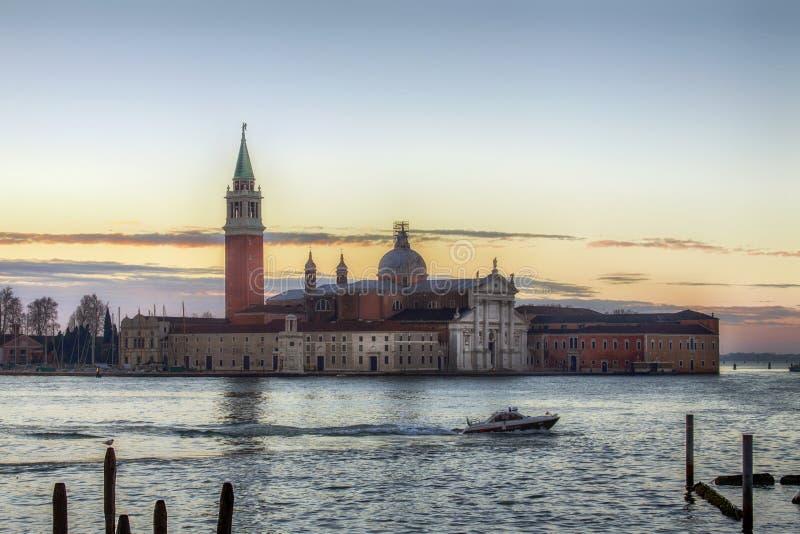 Ansicht von Venedig Grand Canal während des Sonnenaufgangs, Venedig, Italien lizenzfreie stockbilder
