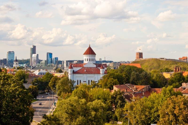 Ansicht von Vilnius lizenzfreies stockfoto
