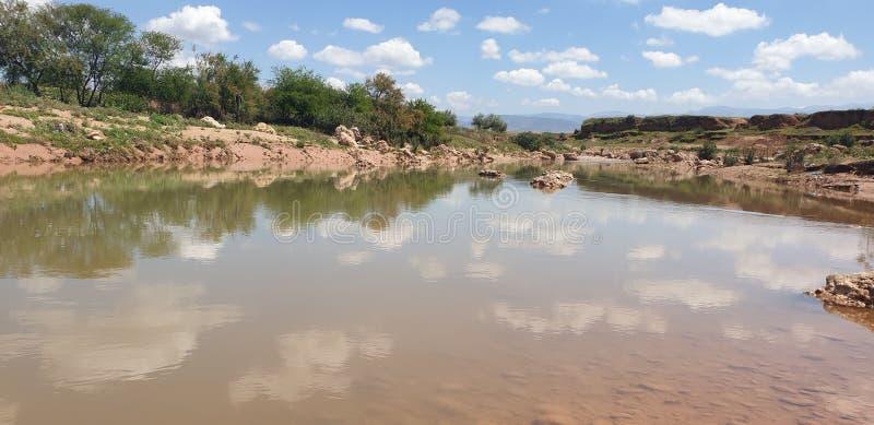 Ansicht von Wadi Darnah im morroco stockfotografie