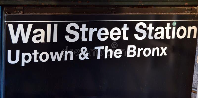 Ansicht von Wall Street Station lizenzfreies stockbild