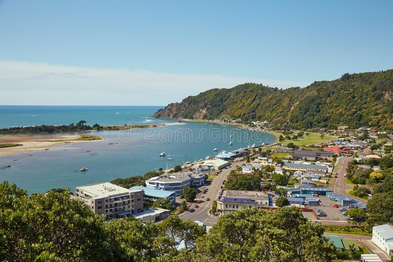 Ansicht von Whakatane in Neuseeland stockfotos