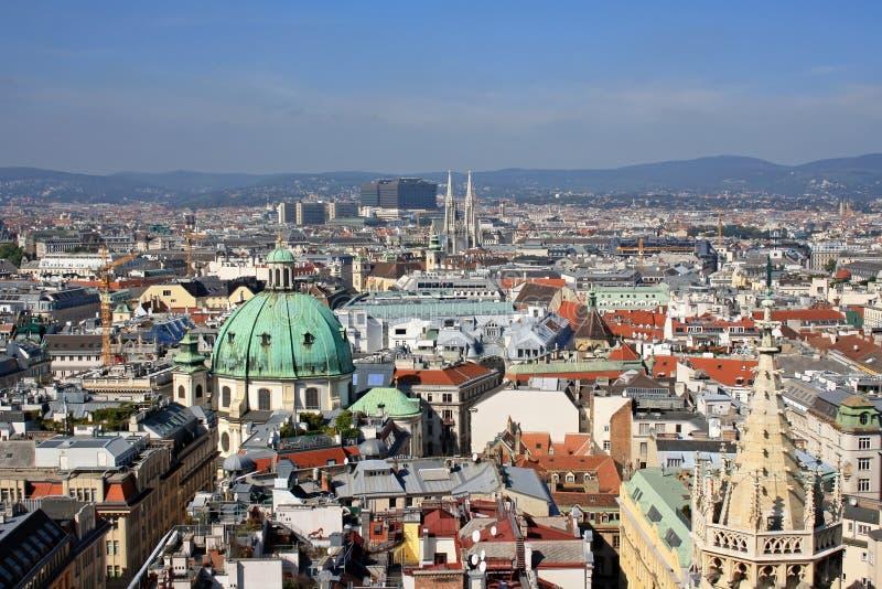 Ansicht von Wien stockfotos