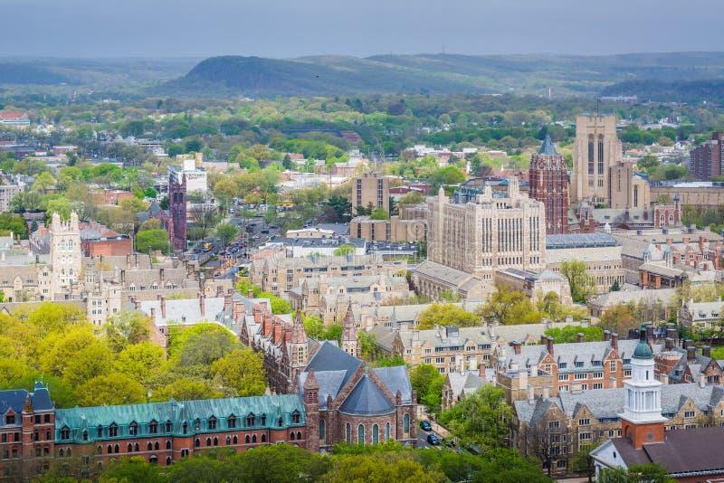 Ansicht von Yale University in New-Haven, Connecticut lizenzfreies stockbild