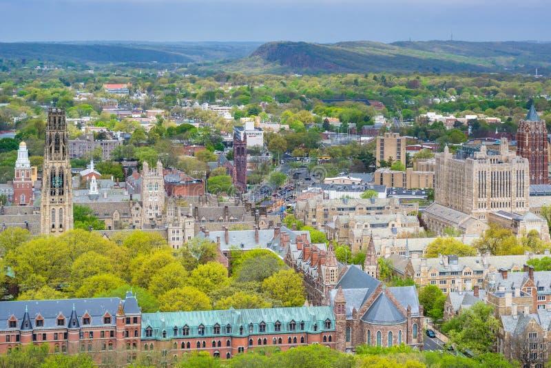 Ansicht von Yale University in New-Haven, Connecticut stockbilder