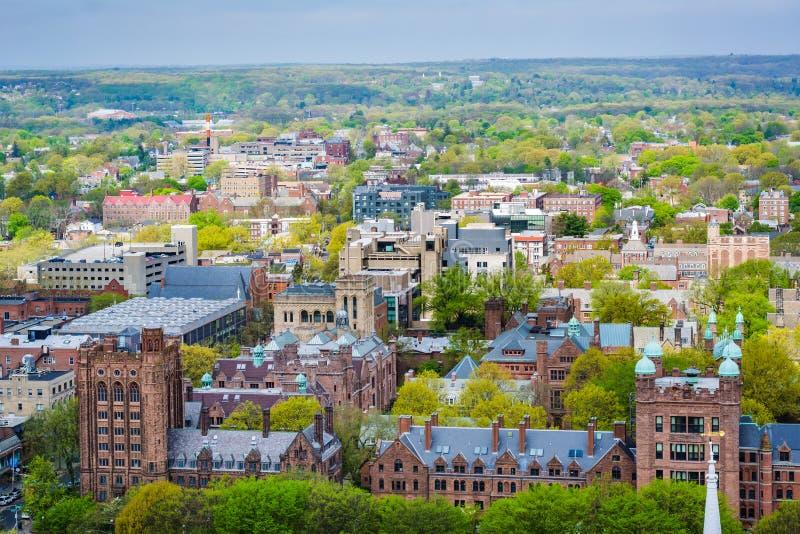 Ansicht von Yale University in New-Haven, Connecticut lizenzfreie stockfotografie