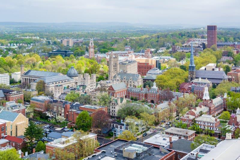 Ansicht von Yale University in New-Haven, Connecticut stockfotografie