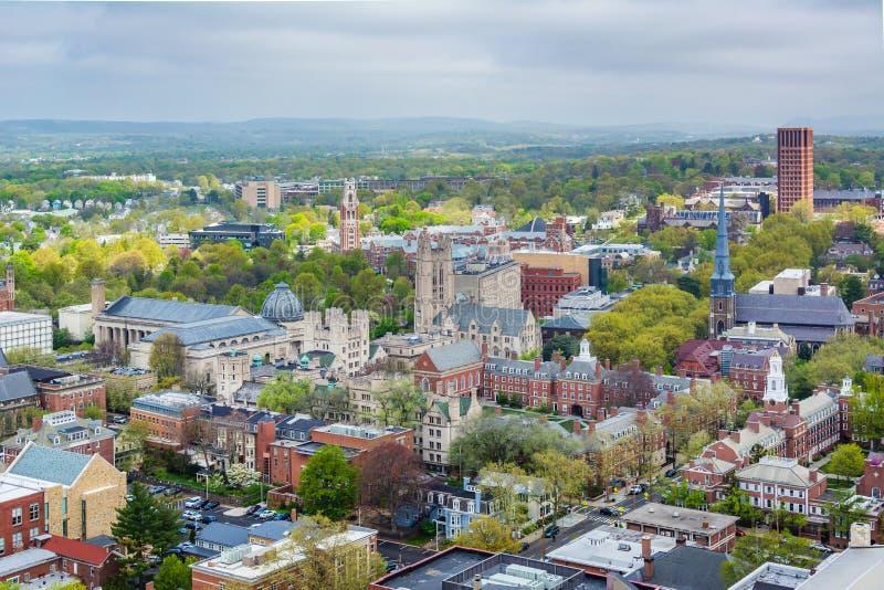Ansicht von Yale University in New-Haven, Connecticut stockfotos