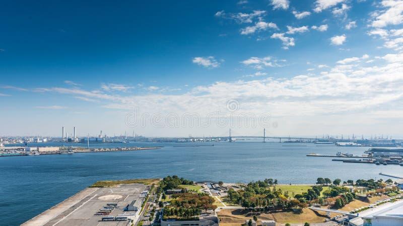 Ansicht von Yokohama-Bucht lizenzfreie stockfotos