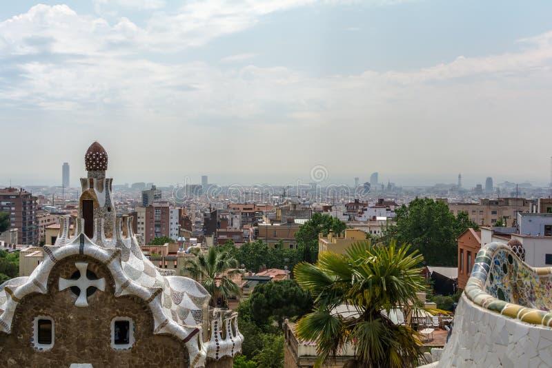 Ansicht zu Barcelona-Stadt stockbild