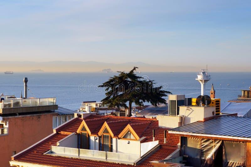 Ansicht zu Bosphorus-Straße Istanbul, die Türkei stockfoto