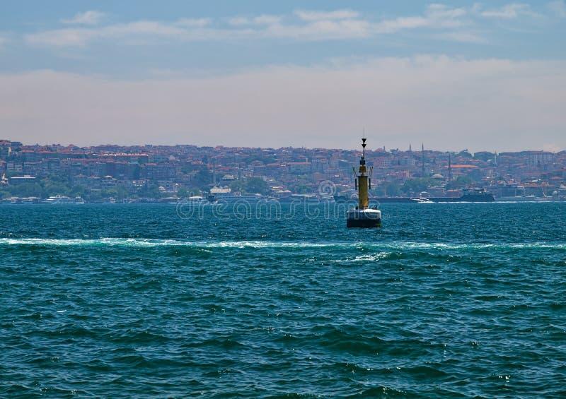 Ansicht zu Bosporus-Straße lizenzfreies stockfoto