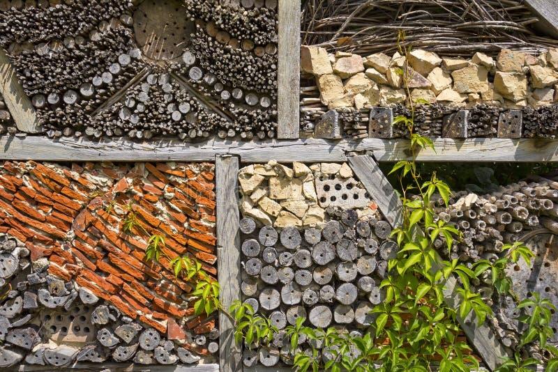 Ansicht zu einem Insektenhaus lizenzfreies stockbild
