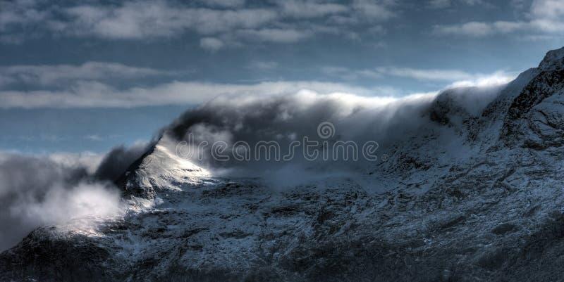 Ansicht zu Snowdon stockfotos