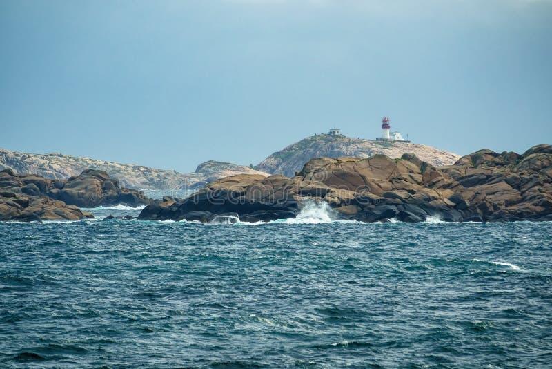 Ansicht zum Leuchtturm Lindesnes Fyr in Norwegen stockfotos