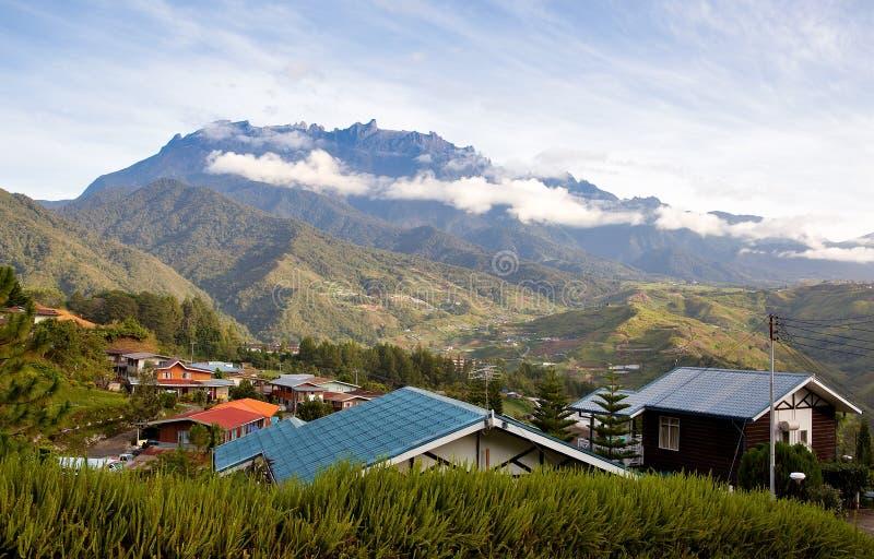 Ansicht zum mt. Kinabalu, Borneo, Malaysia lizenzfreie stockfotografie