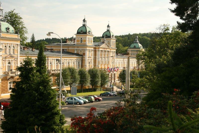 Ansicht zum Sanatorium. Marienbad lizenzfreie stockbilder
