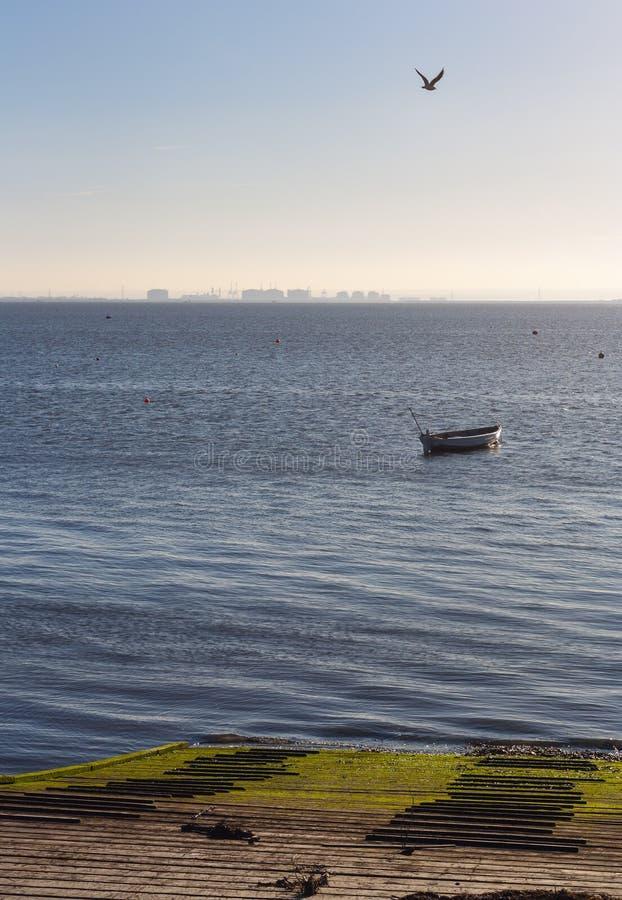 Ansicht zur Insel des Kornes lizenzfreies stockbild