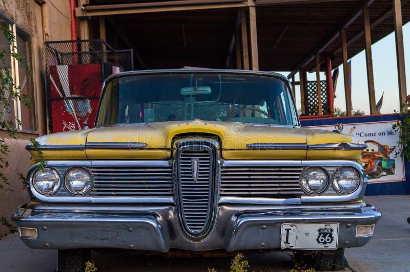 Ansichten der Dekorationen des Weges 66 in Arizona, USA lizenzfreie stockfotos