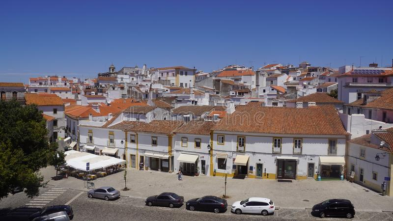 Ansichten der portugiesischen Stadt von Evora stockbild