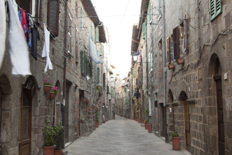 Ansichten des historischen Dorfs Santa Fiora Grosseto Italy lizenzfreie stockfotos