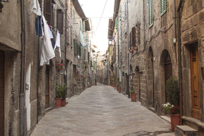 Ansichten des historischen Dorfs Santa Fiora Grosseto Italy stockfoto