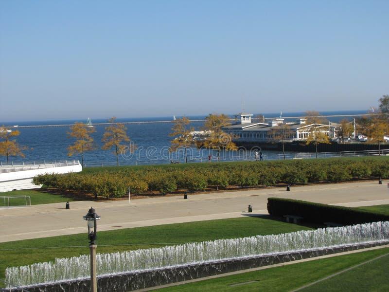 Ansichten des Michigansees -- ein großer See stockfoto