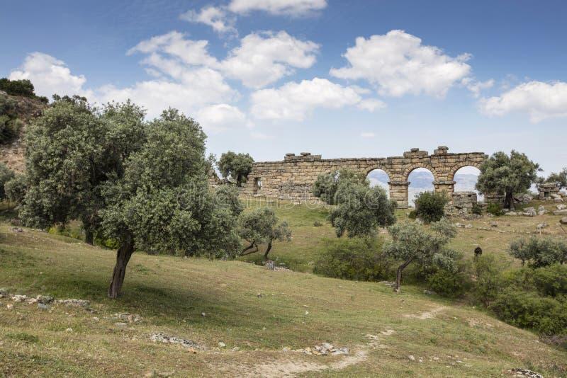 Ansichten von der alten Stadt von Alinda stockbild