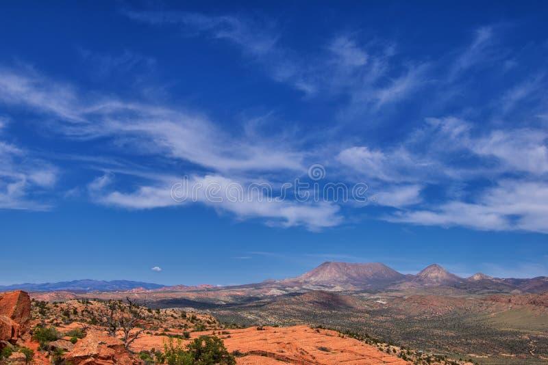 Ansichten von der unteren Sand-Buchtspur zur Turbulenzbildung, durch Schnee-Schlucht-Nationalpark in der rote Klippen-nationalen  lizenzfreies stockfoto