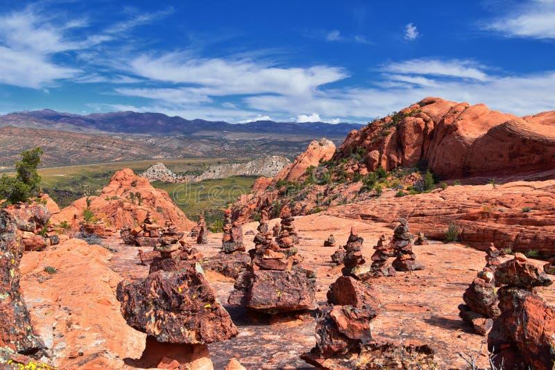 Ansichten von der unteren Sand-Buchtspur zur Turbulenzbildung, durch Schnee-Schlucht-Nationalpark in der rote Klippen-nationalen  lizenzfreies stockbild