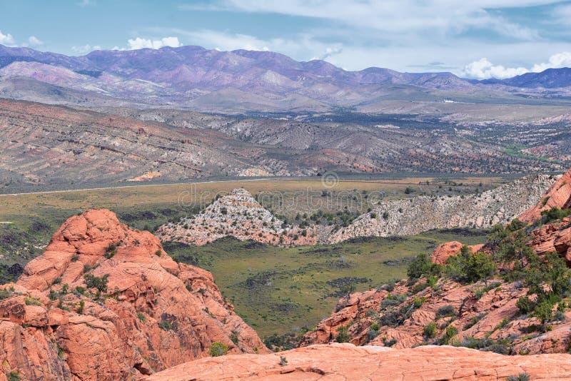 Ansichten von der unteren Sand-Buchtspur zur Turbulenzbildung, durch Schnee-Schlucht-Nationalpark in der rote Klippen-nationalen  stockbilder