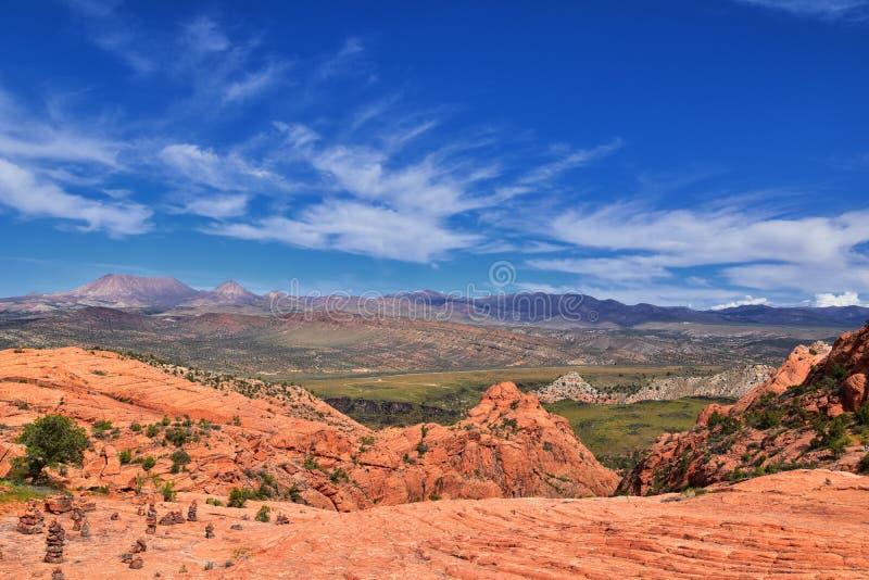 Ansichten von der unteren Sand-Buchtspur zur Turbulenzbildung, durch Schnee-Schlucht-Nationalpark in der rote Klippen-nationalen  stockbild