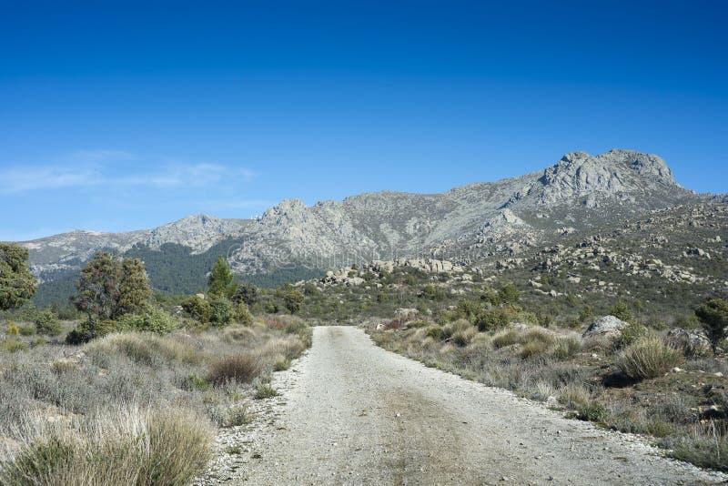Ansichten von Guadarrama-Bergen lizenzfreies stockfoto