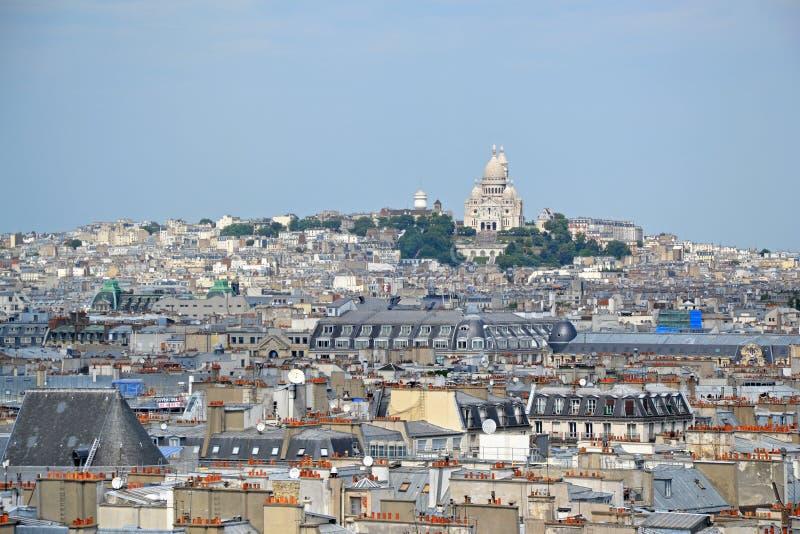 """Ansichten von Paris mit ur des Sacré-CÅ """"Basilika lizenzfreies stockfoto"""