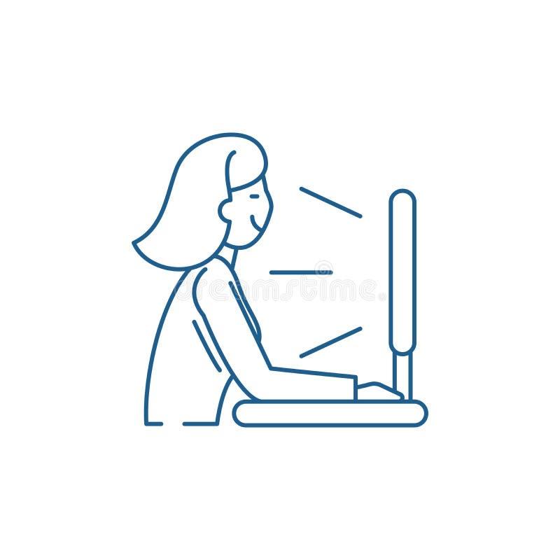 Ansichtfernsehserie zeichnet Ikonenkonzept Flaches Vektorsymbol der Ansichtfernsehserie, Zeichen, Entwurfsillustration vektor abbildung