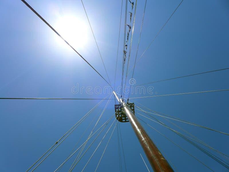 Ansichthimmel vom Schiff stockfotografie