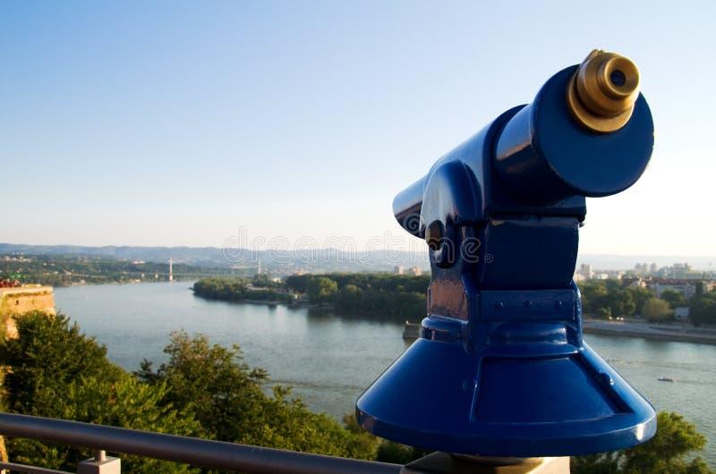 Ansichtpunkt über der Donau lizenzfreies stockbild