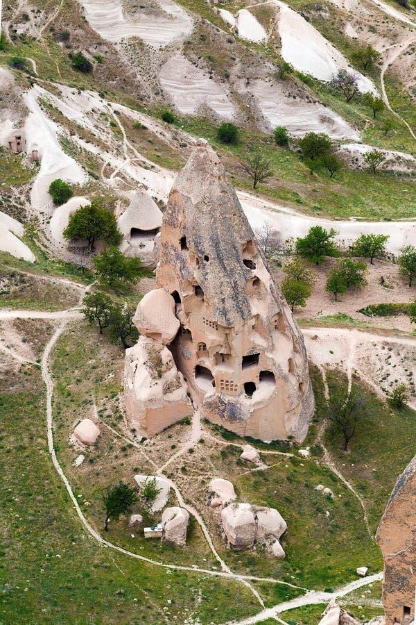 Ansichtspitze von Cappadocia stockbild