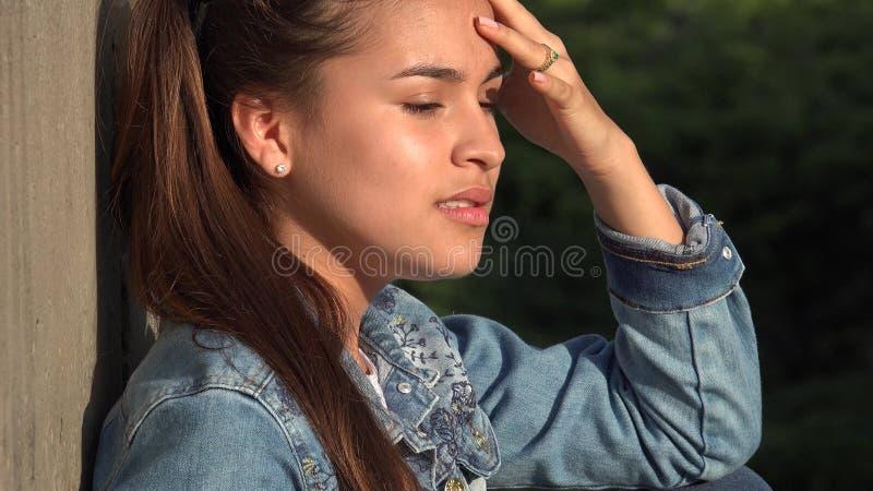 Ansiedade e preocupação da raiva entre adolescentes imagens de stock royalty free
