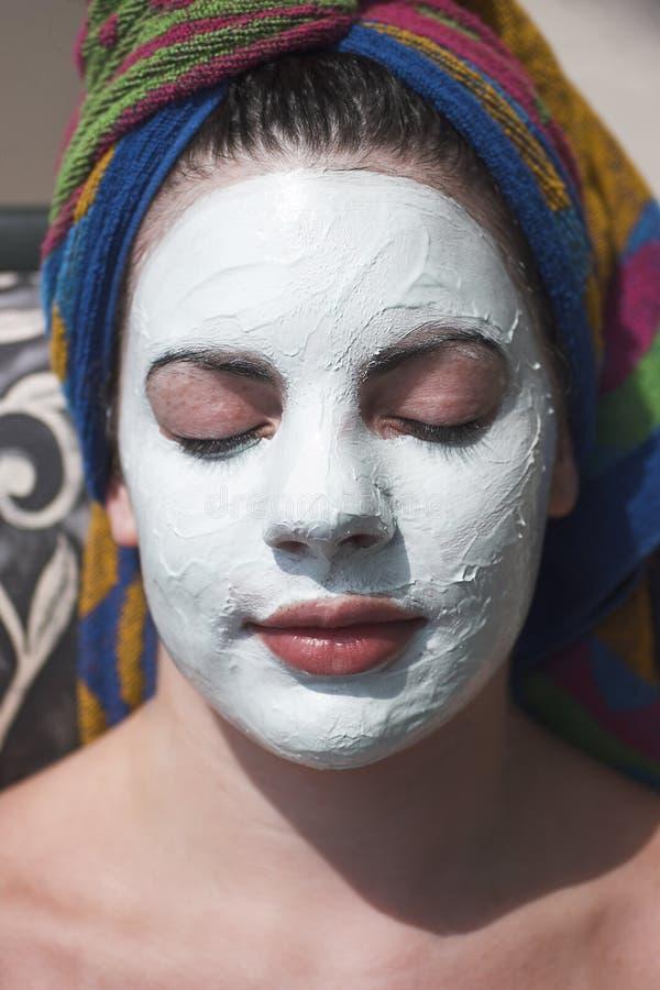 ansikts- behandling arkivfoto