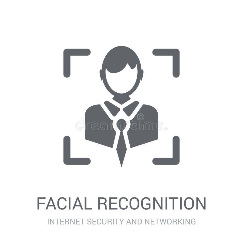 Ansikts- erkännandesymbol  stock illustrationer