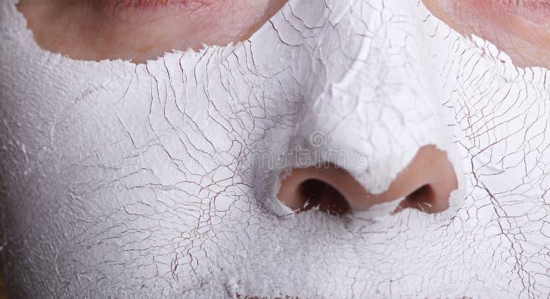 Ansikts- maskering. Spa royaltyfri foto
