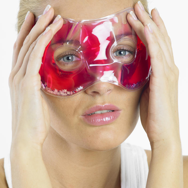 ansikts- maskeringskvinna royaltyfria bilder