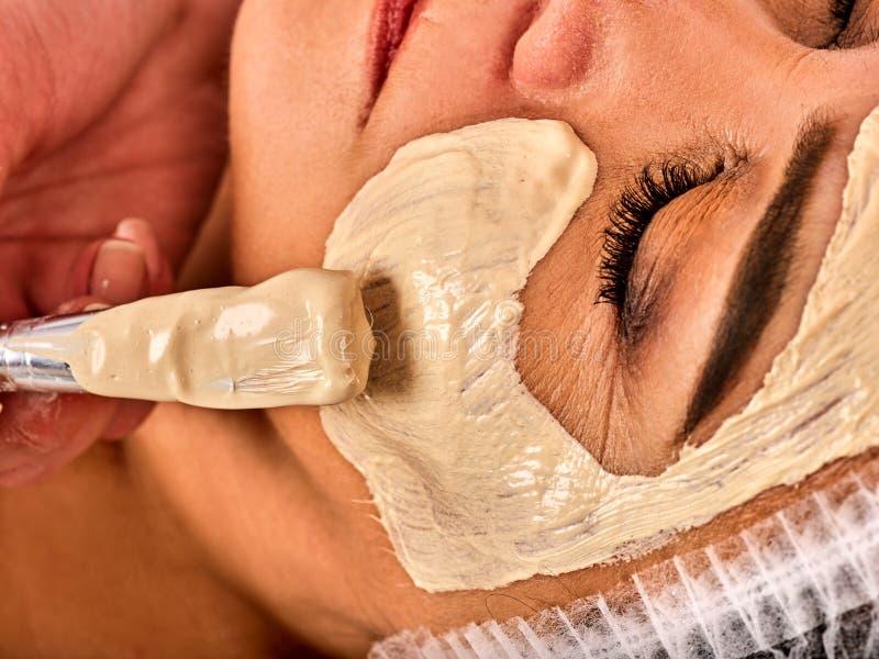 Ansikts- massage för för kvinnabrunnsort för femåring fyrtio salong royaltyfri foto