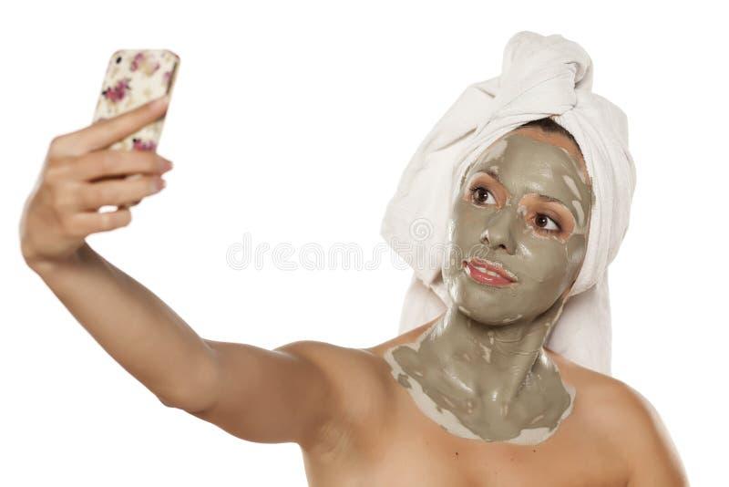 Ansikts- omsorg-tokig maskering arkivfoto