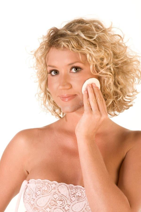 Ansikts- skincare, rengörande smink royaltyfria foton