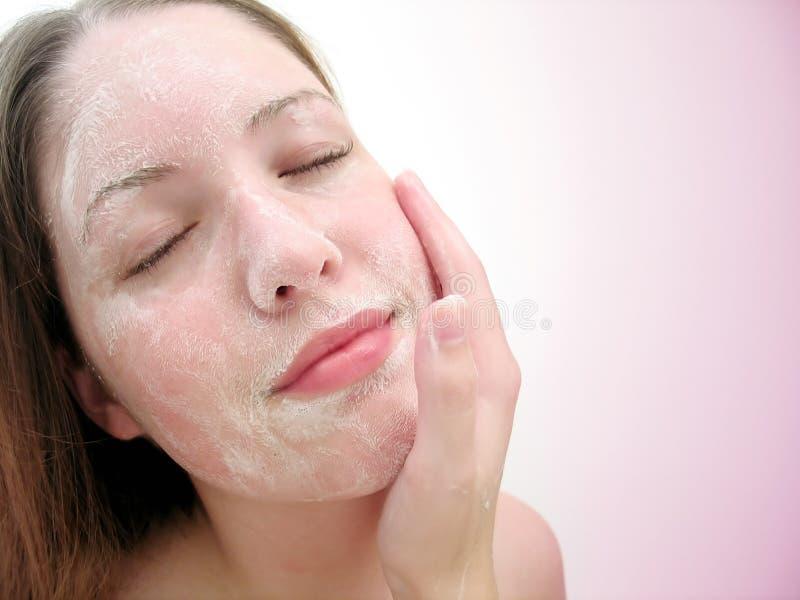 ansikts- wash 2 arkivfoton