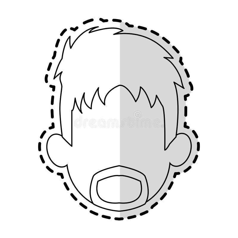 ansiktslös bild för mantecknad filmsymbol vektor illustrationer