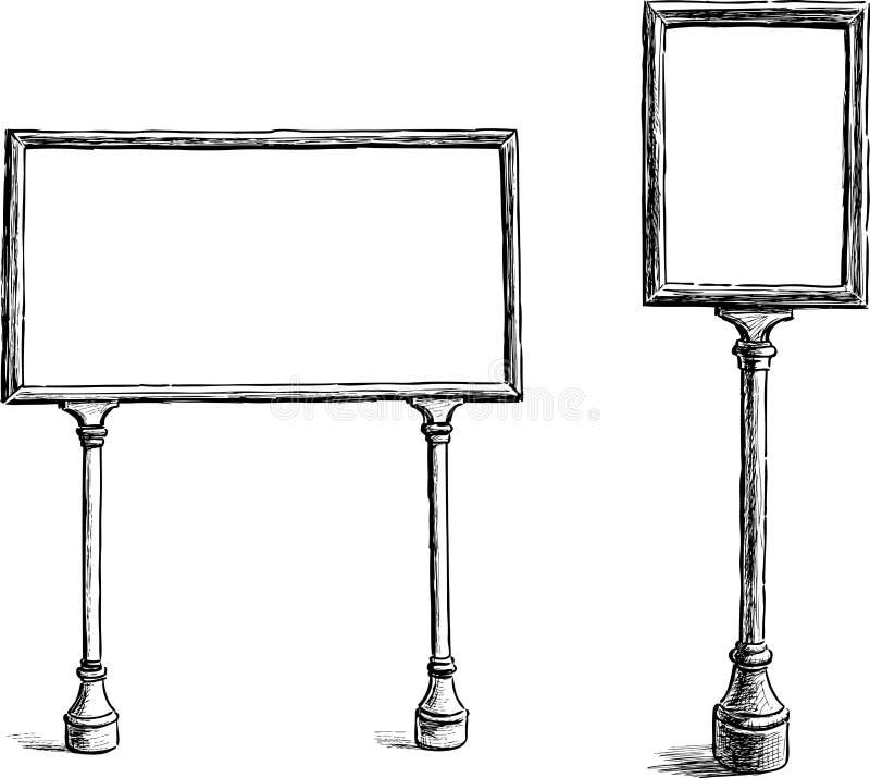 Anslagstavlor royaltyfri illustrationer